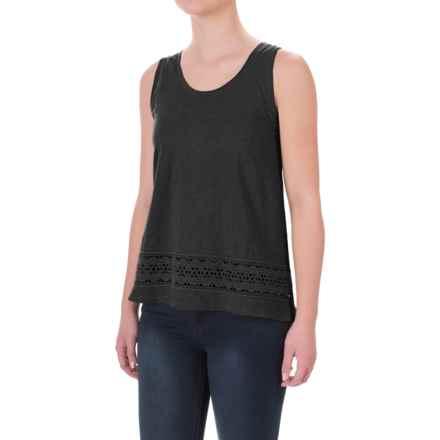 Crochet-Trim Flyaway Shirt - Sleeveless (For Women) in Black - 2nds