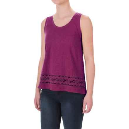 Crochet-Trim Flyaway Shirt - Sleeveless (For Women) in Purple - 2nds