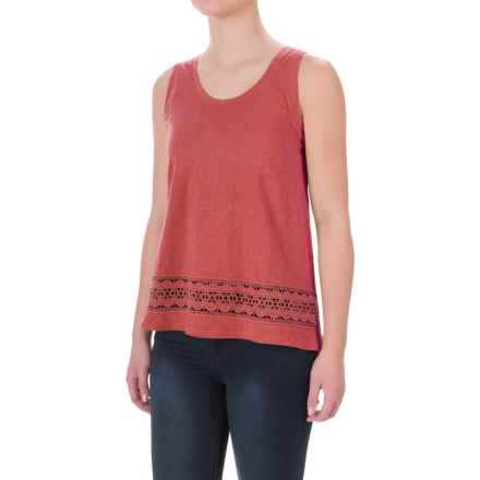 Crochet-Trim Flyaway Shirt - Sleeveless (For Women) in Rust - 2nds