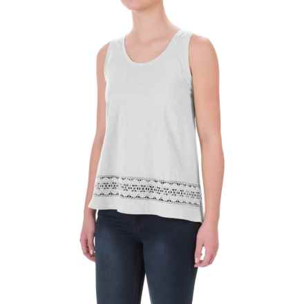 Crochet-Trim Flyaway Shirt - Sleeveless (For Women) in White - 2nds