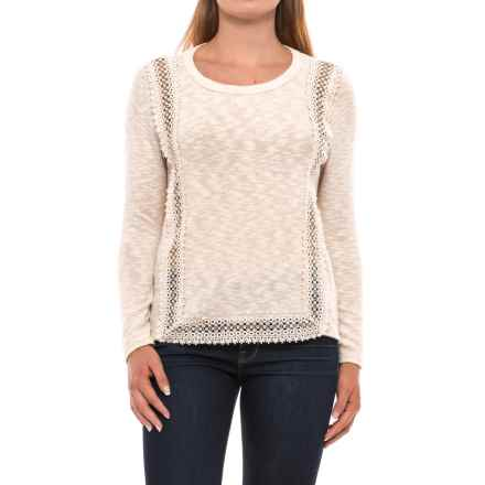 Crochet-Trim Shirt - Long Sleeve (For Women) in Ivory - 2nds