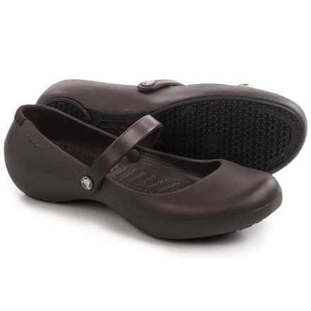 Crocs Alice Work Shoes - Slip-Ons (For Women) in Espresso - Closeouts
