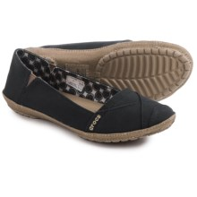 Crocs Angeline Shoes - Slip-Ons (For Women) in Black/Khaki - Closeouts