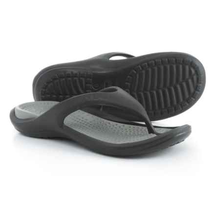 Crocs Athens Croslite® Flip-Flops (For Men) in Black/Smoke - Closeouts