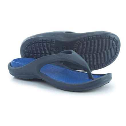Crocs Athens Croslite® Flip-Flops (For Men) in Navy/Cerulean Blue - Closeouts