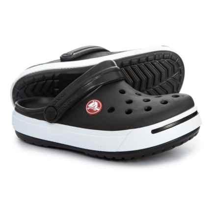 8327a8bd62a714 Crocs Black-White Crocband Clogs (For Boys) in Black White - Closeouts