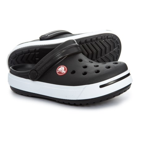 2f04a5d20954 Crocs Black-White Crocband Clogs (For Boys) in Black White