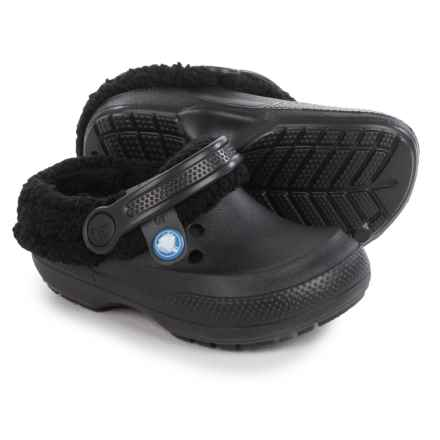Crocs Blitzen II Clogs - Fleece Lined (For Little Kids) in Black - Closeouts