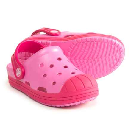 Crocs Bump It Clogs (For Girls) in Party Pink/Candy Pink - Closeouts