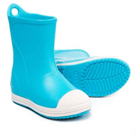 Crocs Bump It Rain Boots (For Boys) in Electric Blue/Oyster - Closeouts