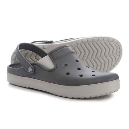 Crocs Citilane Clogs (For Men) in Charcoal/Pearl White - Closeouts