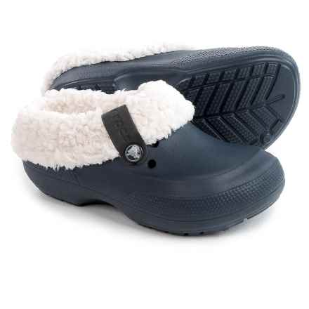 Crocs Classic Blitzen II Clogs (For Little and Big Boys) in Navy/Oatmeal - Closeouts