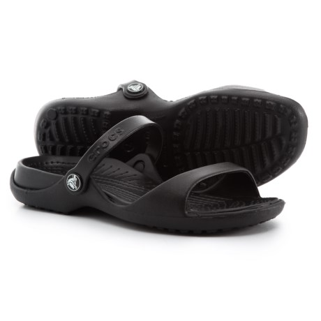 Crocs Cleo Two-Band Sandals (For Women) in Black/Black