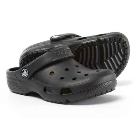 Crocs Coast Clogs (For Boys) in Black - Closeouts