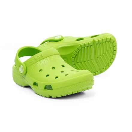 Crocs Coast Clogs (For Boys) in Volt Green - Closeouts