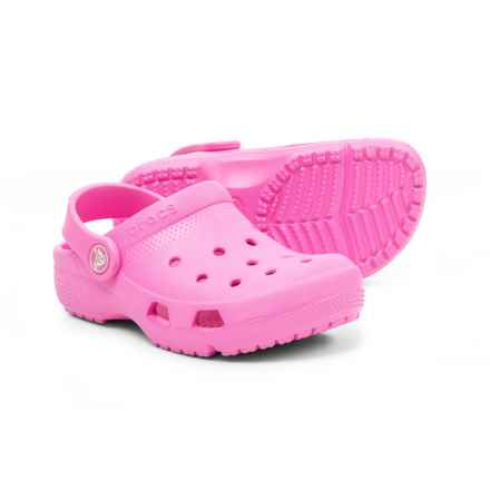 Crocs Coast Clogs (For Girls) in Party Pink - Closeouts