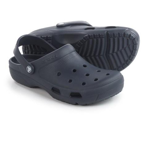 Crocs Coast Roomy Fit Clogs (For Men & Women) in Navy