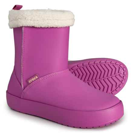 Crocs Colorlite GS Boots (For Little and Big Girls) in Wild Orchid/Oatmeal - Closeouts