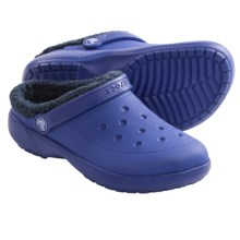 Crocs Colorlite Lined Clogs (For Kids and Youth) in Cerulean Blue/Navy - Closeouts