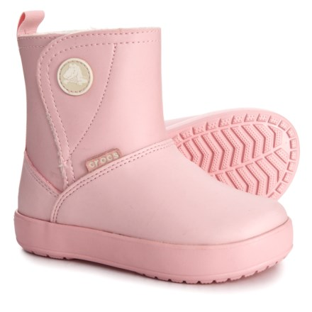 89efd14c6290df Crocs Colorlite PS Boots (For Toddler and Little Girls) in Pear Pink   Oatmeal