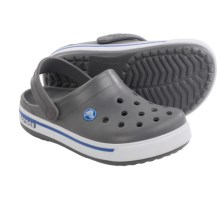 Crocs Crocband 2.5 Clogs (For Little Kids) in Charcoal/Sea Blue - Closeouts