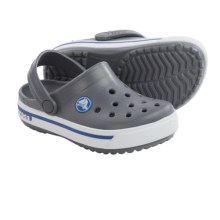 Crocs Crocband 2.5 Clogs (For Toddlers) in Charcoal/Sea Blue - Closeouts