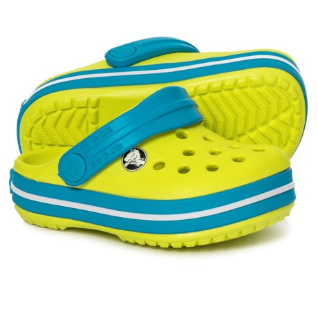 5a9ed22fe Crocs Crocband Clogs (For Boys) in Tennis Ball Green Ocean