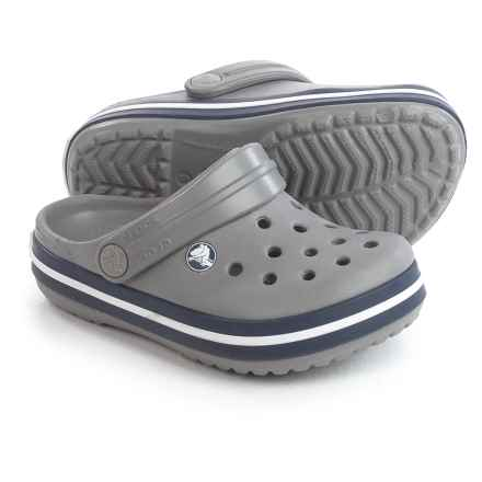 Crocs Crocband Clogs (For Infants and Toddlers) in Smoke/Navy - Closeouts