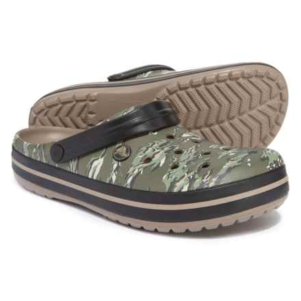 Crocs Crocband Graphic Clogs (For Men) in Dark Camo Green