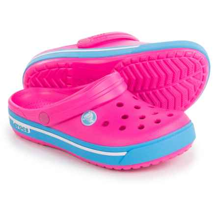 Crocs Crocband ii.5 Classic Clogs (For Kids) in Neon Magenta/Bluebell - Closeouts