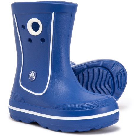 8296afcd44c Crocs Crocband Jaunt Rain Boots - Waterproof (For Boys) in Cerulean Blue