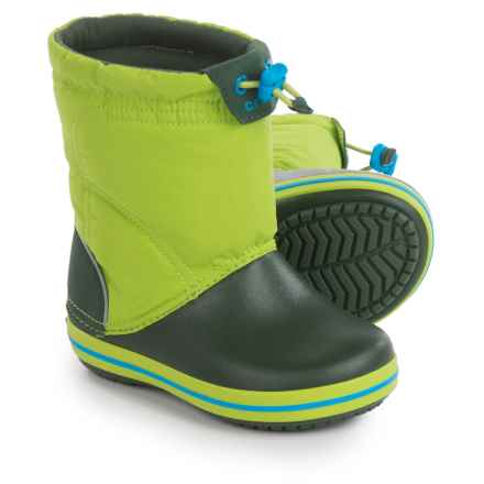 Crocs Crocband LodgePoint Snow Boots (For Little and Big Kids) in Lime - Closeouts