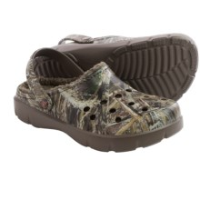 Crocs Dasher Realtree Max-5® Lined Clogs (For Men and Women) in Chocolate/Orange - Closeouts