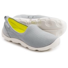 Crocs Duet Busy Day Open Mesh Skimmers (For Women) in Light Grey/Oyster - Closeouts