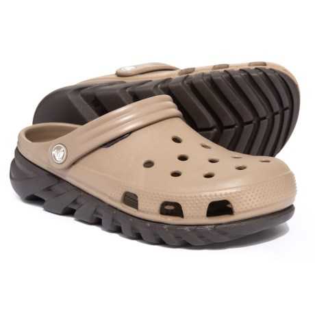 95d0a9ea87f3 Crocs Duet Max Clogs (For Men) in Khaki Espresso