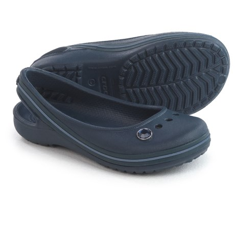 Crocs Genna II Gem Flats (For Little and Big Girls) in Navy/Bijou Blue