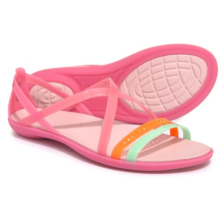 c92587176ca5 Crocs Isabella Cutout Strappy Sandals (For Women) in Paradise Pink Rose Dust