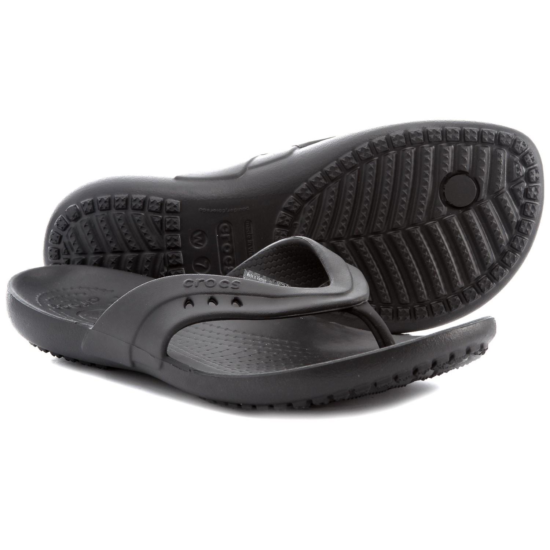 Crocs Kadee Flip-Flops (For Women) in Black ...