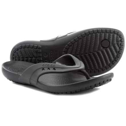 ef6c1eeae2f6 Crocs Kadee Flip-Flops (For Women) in Black - Closeouts