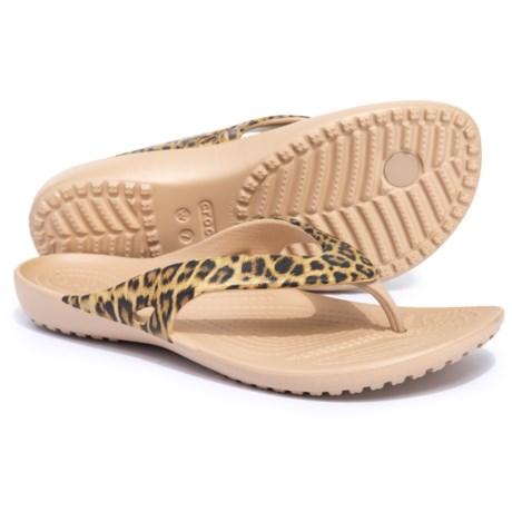d4626e497 Crocs Kadee II Leopard Print Flip-Flops (For Women) - Save 33%