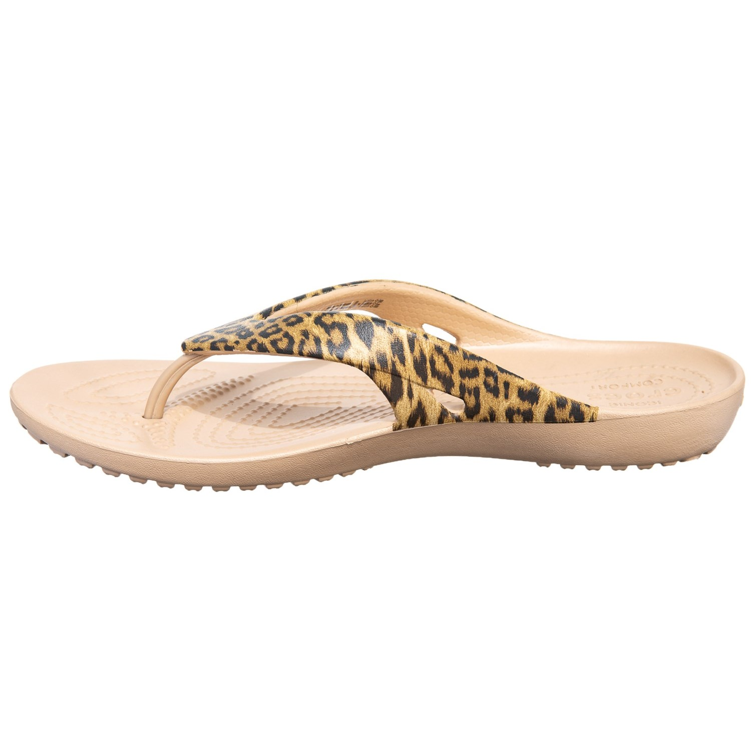 436ac5388a02 Crocs Kadee II Leopard Print Flip-Flops (For Women) - Save 33%