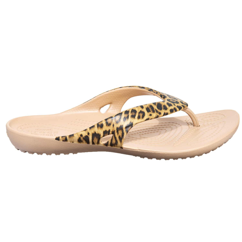 d78f31411 Crocs Kadee II Leopard Print Flip-Flops (For Women) - Save 33%