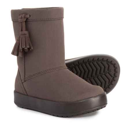 Crocs Lodgepoint Boots - Waterproof (For Toddler and Little Girls) in Espresso - Closeouts