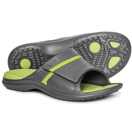 823ef4c39e2d2 Crocs Modi Sports Slide Sandals (For Men) in Graphite Volt Green