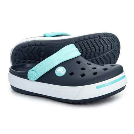 9c5695da9c4f10 Crocs Navy Ice Blue Crocband Clogs (For Boys) in Navy Ice Blue - Closeouts