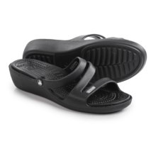 Crocs Patricia Wedge Sandals (For Women) in Black/Black - Closeouts