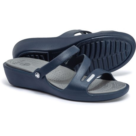 0bd089ff4c1fc1 Crocs Patricia Wedge Sandals (For Women) in Navy Smoke