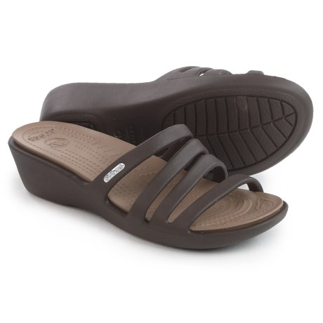 db48105d1e5d Crocs Rhonda Wedge Sandals (For Women) in Espresso Mushroom