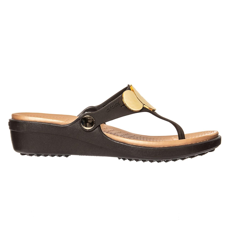 e8254aa6af53 Crocs Sanrah Embellished Wedge Flip-Flops (For Women) - Save 33%