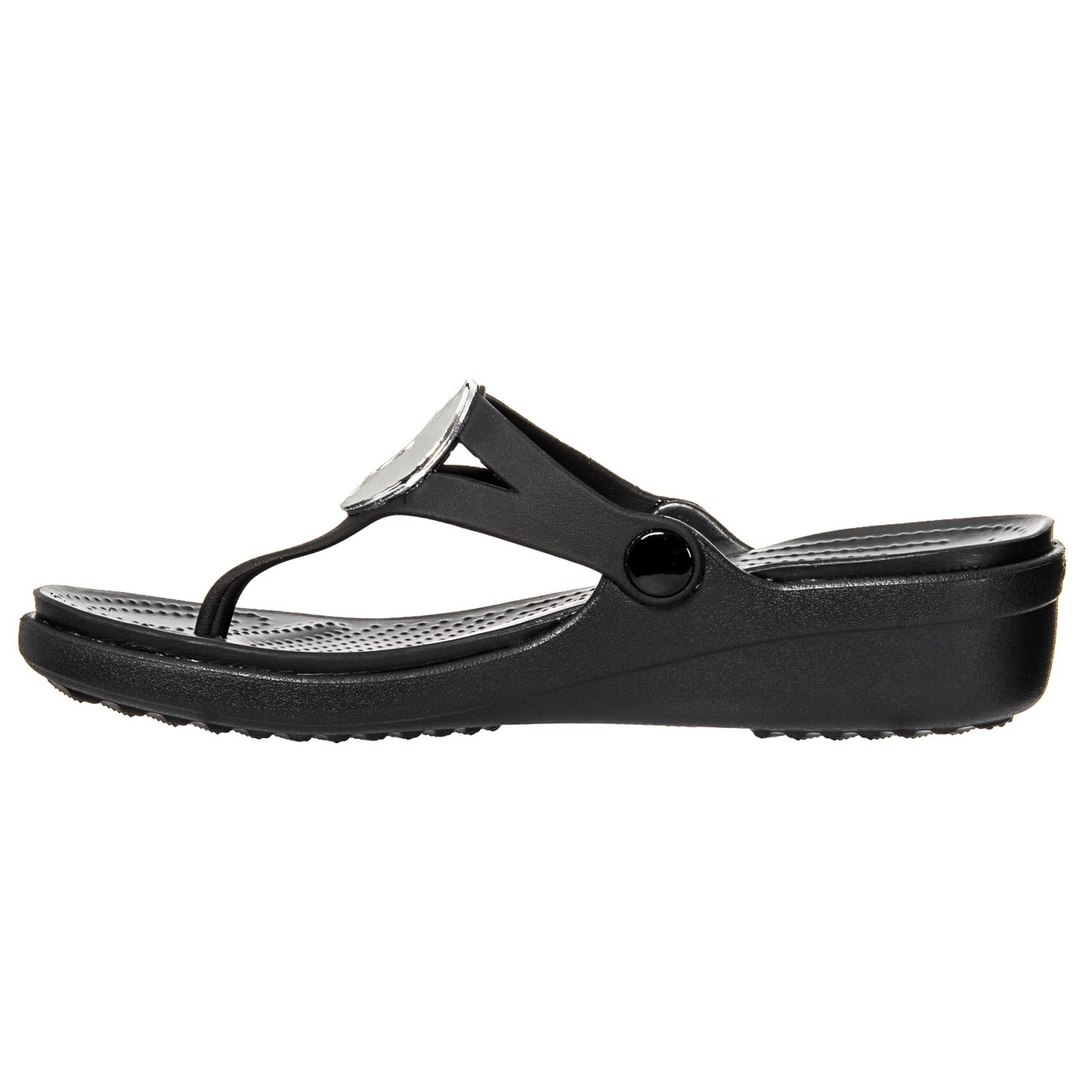 2d7c306ef168 Crocs Sanrah Hammered Metallic Wedge Flip-Flops (For Women) - Save 55%